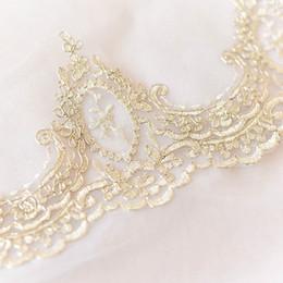 727af78e4a1 Продажа двор золото французский фата вышивка кружева ткань отделка  свадебное платье ресницы кружева швейные аксессуары LT02