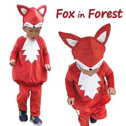 $enCountryForm.capitalKeyWord Australia - Child Little Fox Costume Kids Animal Dress Up Woodland Red Fox Cosplay Halloween Fancy Dress for Toddlers Carnival Cosplay