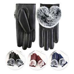 Leather Mitten Gloves Australia - Women's Leather Gloves Autumn Winter Bow Warm Driving Plus Velvet Mittens Warm and mature gloves