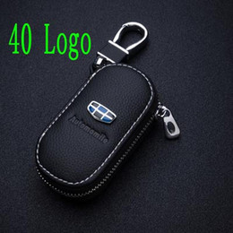 Discount key cover for ford focus - Leather Car Key Case Key Cover bags for Opel Volkswagen honda civic Kia ford focus audi a4 b8 passat b6 peugeot mercedes