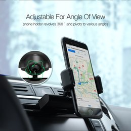 Wholesale car cell phone holder clip resale online - Car Phone Mount CD Slot Car Phone Holder for iPhone Magnetic Holder Stand Clip Cell Phone Holder for Huawei Tablet GPS