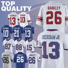 5feccd6b5 Saquon 26 Barkley Odell 13 Beckham Jr Eli 10 Manning Sterling 87 Shepard  Brandon 15 Marshall men football jerseys