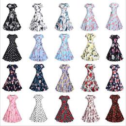 Wholesale 50s clothing resale online – Women Clothes s Hepburn Dresses Retro Summer Dress Party Dress Wedding Floral Vintage Dresses Bodycon Slim Vestidos Women s Apparel B4754
