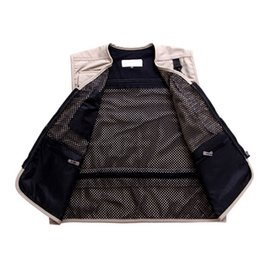 $enCountryForm.capitalKeyWord Australia - New Arrival Summer Mesh Casual Breathable Men Vest For Shooting Clothes Reporter Vest Jackets Multi-pocket Photography