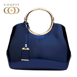 womens pink ring NZ - Coofit Female Elegant Ring Handbag Generous Golden Handle Shell Bag Womens Fixed Designer PU Shoulder Bags Evening Bags For Lady