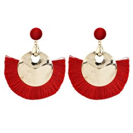 $enCountryForm.capitalKeyWord UK - New Design Tassel Stud Earrings Set For Women Girl Bohemian alloy long Earring Female Fashion Wedding Jewelry ER-01