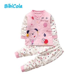 Cute Outfits For Spring Australia - Autumn Baby Girl Boys Clothes Sets Cute Spring Outfits Infant Cartoon Printing Sweatshirts+Casual Pants 2Pcs For Newborn Set