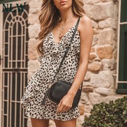 $enCountryForm.capitalKeyWord Australia - Nlw Women Sexy Leopard V Neck Short Jumpsuit 2019 Summer High Street Holiday Rompers Female High Waist Ruffle Chiffon Jumpsuit SH190718