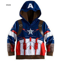 $enCountryForm.capitalKeyWord NZ - New The Avengers Boys Coat Autumn And Spring Cotton Kids Jacket Children Hansome Hooded Casual Outerwear Kids Clothing