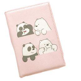 $enCountryForm.capitalKeyWord Australia - Cartoon Clean Bear Passport Cover Waterproof Package Passport Clip Document Bag Pu Girls Travel Duck Panda Card Holder Bag