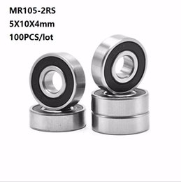 4mm ball bearings online shopping - 100pcs MR105RS MR105 RS MR105 RS RS x10x4 mm Rubber sealed deep groove Ball Bearing Miniature mini mm