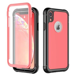 "$enCountryForm.capitalKeyWord NZ - For iPhone XR Case Full-Body Rugged Cover Case with Built-in Screen Protector Support Wireless Charging Thin Case for iPhone 6.1"" Rose Red"