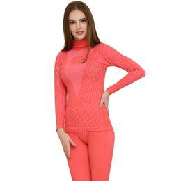 Ingrosso Vendita calda Long Johns per le donne Inverno Thermal Underwear Suit Ladies Thermal Underwear Set Donna Inverno Autunno caldo Johns lunghi