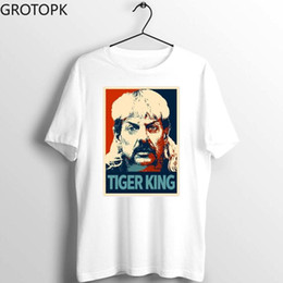 wholesale tiger shirts Australia - Joe Exotic Tiger King Men Women Tshirt Fashion Summer Short Sleeve Top Quality Casual Short Sleeve O-Neck Print T Shirt