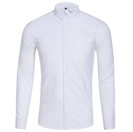 large collar white shirt NZ - White New supply foreign trade corduroy large size leisure long-sleeved shirt autumn and winter men's bottom