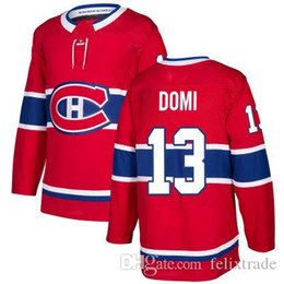 Max Domi  13 Montreal Canadiens Jerseys 2017-18 Season Double Stiched High  Quanlity Polyester Hockey Jersey Men Women Youth Customizable 644042821