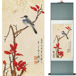 $enCountryForm.capitalKeyWord NZ - Birds On The Tree Painting Home Office Decoration Chinese Scroll Painting Birds Painting Birds And Flower Painting062904