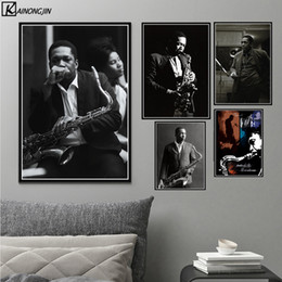 $enCountryForm.capitalKeyWord Australia - John Coltrane Poster Jazz Musician Music Singer Star Posters and Prints Canvas Painting Wall Art Picture Living Room Home Decor