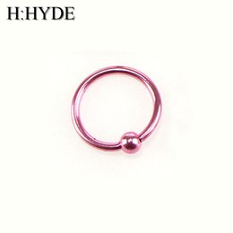 Discount fake nose earrings - H:HYDE 1 Piece Fake Nose Ring Goth Punk Lip Ear Nose Clip On Fake Septum Piercing Ring Hoop Lip Hoop Rings Earrings