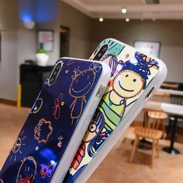 happy plastic UK - Happy family of graffiti, new luxury soft transparent smooth coating, iPhone X S R 7 8 plus 11 pro MAX mobile phone case