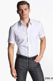 $enCountryForm.capitalKeyWord Australia - man's plain color white cotton polyester designer dress slim-fit summer shirt, tailor bespoke cotton casual shirt,2018 VA