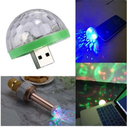 power bank shape Australia - USB Laser Light Mini RGB LED Disco Ball Shape Stage Effect Convenient For Party Club DJ Light Mobile Phone PC Power Bank
