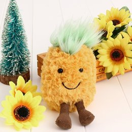 plush toy animal heads NZ - Backpack Accessories Cute Plush Toys Pineapple Head Soft Stuffed Dolls Gift Toys For Children Stuffed & Plush Animals