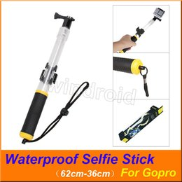 Control gopro online shopping - Transparent Floating Waterproof For Gopro Selfie Stick Telescopic Monopod Install Remote Control holder for GoPro HERO Action Camera