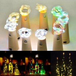 bottle lights Australia - Bottle Stopper Light 1M 10LED 2M 20LED Lamp Cork Shaped Glass Wine Stopper LED Copper Wire String Lights Wedding Halloween Party Decoration