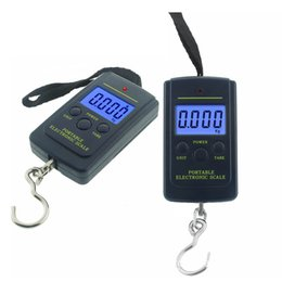 Chinese  40Kg Digital Scales LCD Display Hanging Hook Luggage Fishing Weight Scale Household Portable Airport Electronic Scales DH0151 manufacturers