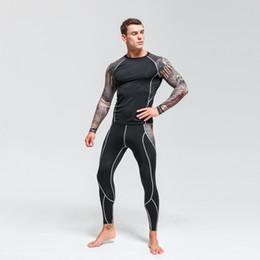 Football Compression Suit Australia - Fitness sports tights men's compression sports suit football training clothes fitness running sportswear sportswear dry set 4XL