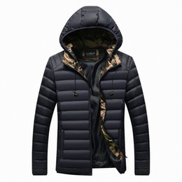asian winter jackets 2019 - Winter Men Parkas Coat New Men's Casual Fashion Parkas Male Simple Solid Color Hooded Parka Jackets Clothing Asian