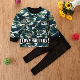 spring baby clothing Australia - 5395 New Spring Autumn Baby Boys Set Kids Camouflage Tshirt + Mesh Pants Boy 2pcs Clothes Set Children Outfits Clothing Suit