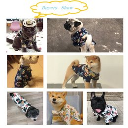 clothes ornaments Australia - Dog Shirts Cotton Summer Beach Clothes Vest Short Sleeve Pet Clothes Floral T Shirt Hawaiian Tops For Small Large Dogs Chihuahua