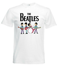 Beatles Tees Australia - The Beatles Cartoon White New T-Shirt Fruit of the Loom ALL SIZES 2Men Women Unisex Fashion tshirt Free Shipping Funny Cool Top Tee