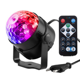 Discount rgb laser projector Laser Projector Light Mini RGB Crystal Magic Ball Rotating Disco Ball Stage Lamp Lumiere Christmas Light for Dj Club Party Show