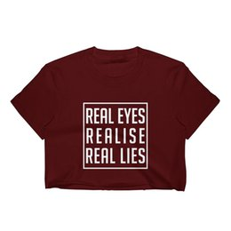 $enCountryForm.capitalKeyWord UK - REAL EYES CROP TOP T SHIRT WOMENS FUNNY HIPSTER SLOGAN LADIES CUTE SUMMER Funny free shipping Unisex Casual