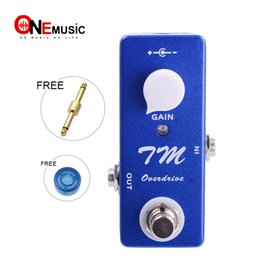 Bass guitar effects online shopping - Mini Guitar Effect TM Overdrive Three Internal Trim Knobs bass treble Vol Blue