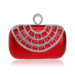 $enCountryForm.capitalKeyWord UK - Finger Ring Diamonds Luxurious Evening Bags Rhinestones Bling Women Clutches Chain Shoulder Female Handbags Purse