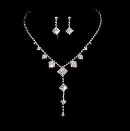 swarovski bridal sets 2019 - 12 set lot,Fashion fringes Necklace Pendant Earring suit Inlaid Austria Crystal Use Swarovski elements Twinkle Bridal Ne