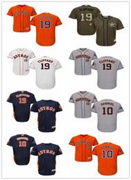 Vente en gros 2019 Houston # 19 Tyler Clippard 10 Yuli Gurriel hommes # FEMMES # JEUNESSE # Maillot de baseball pour homme Majestueux cousu Astros
