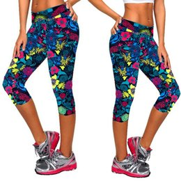 $enCountryForm.capitalKeyWord Australia - ISHOWTIENDA 2019 Gym Leggings In Yoga Pants Women Print High-waist Hip Stretch Running Fitness Yoga Pants Seven-minute