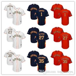 verlander jersey Australia - Wholesale Youth Majestic Astros Jersey #1 Carlos Correa 27 Jose Altuve 35 Justin Verlander White Gold Program Kids Boys Baseball Jerseys