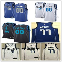 Dallas 1 Dennis Smith Jr. 40 Harrison Barnes 77 Luka Doncic 6 DeAndre 41  Dirk Nowitzki 23 Wesley Matthew Mavericks Basketball Jersey d34b3e5bb