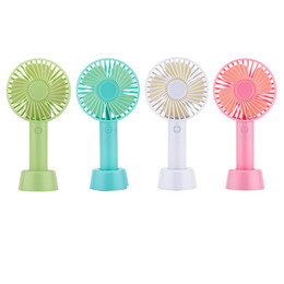 Wholesale Mini Portable Fan Multifunctional USB Rechargerable Kids Table Fan LED Light 18650 Battery Adjustable 3 Speed for Indoor Outdoor kids toys