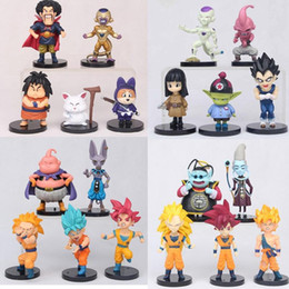 $enCountryForm.capitalKeyWord Australia - 20pcs set Dragon Ball Z Super Saiyan Son Goku Vegeta Buu Freeza Beerus PVC Action Figures Model Toy In Bag