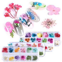 uv decals Canada - 3D Nail Art Decorations Stickers Nail Dried Flower Leaf Real Floral UV Gel Polish Natural Flower Sticker Slider Set Beauty Manicure Decal