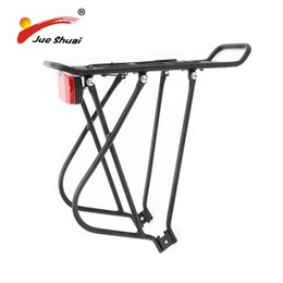$enCountryForm.capitalKeyWord UK - Aluminum Alloy 26 Inch 24 Inch Adjustable Cycling Mountain Bike Luggage Carrier Rear Rack With Red Road Bicycle Rear Light #107115