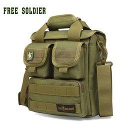 Bag tactical cordura online shopping - FREE SOLDIER CORDURA material YKK zipper Hiking Camping single shoulder bags men s Tactical handy bags
