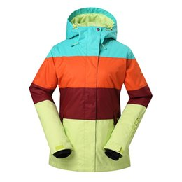 snow clothing jacket Australia - GSOU SNOW Women's Ski Suit Winter Warm Waterproof Windproof Breathable Ski Jacket Single Double Board Cotton Clothes